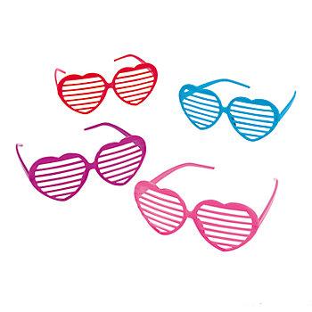 heart shaped shutter shade eyeglasses