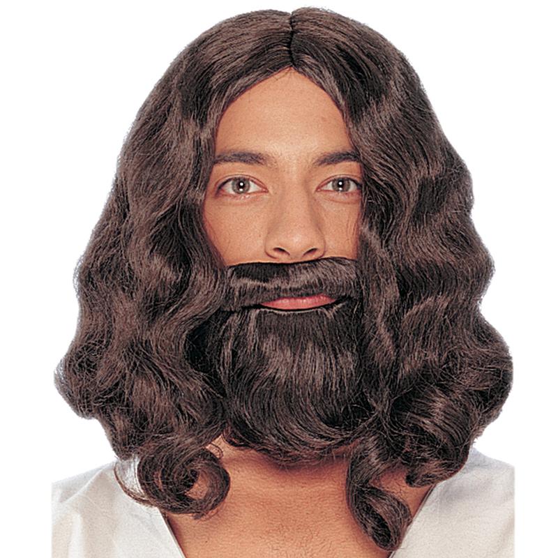 Biblical Wig   Beard Brown Jesus Wig and Beard 2171109caf94