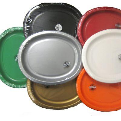 Oval cardboard platter