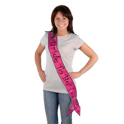 Bride to Be Sash Hot Pink