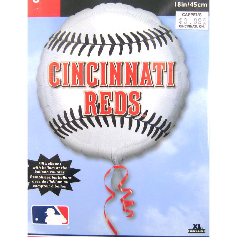 Cincinnati Reds Baseball Helium Balloon