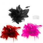 Costume Bendable Feather Headpieces w Comb