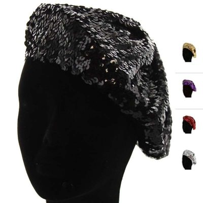 Sequin Fabric beret hat