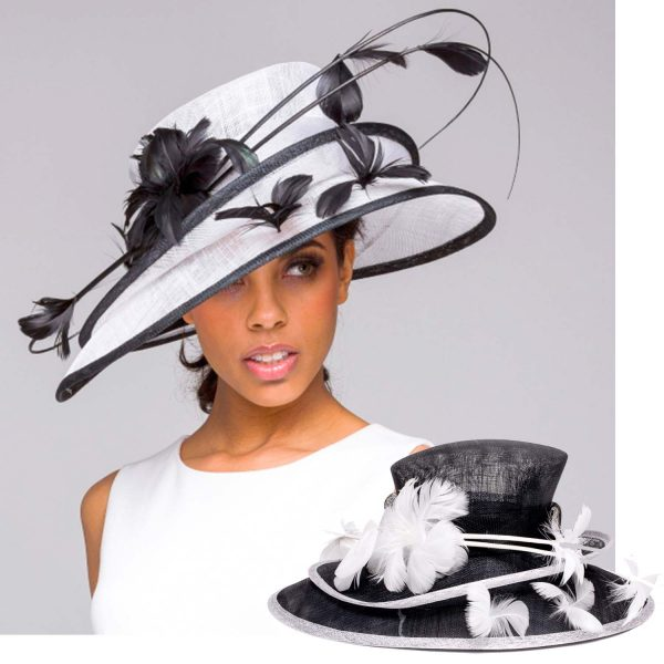Double Layered Sinamay Kentucky Derby Hat