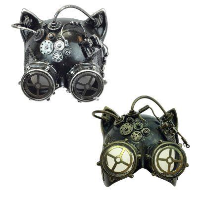 Costume Steampunk Cat-Shaped Mask