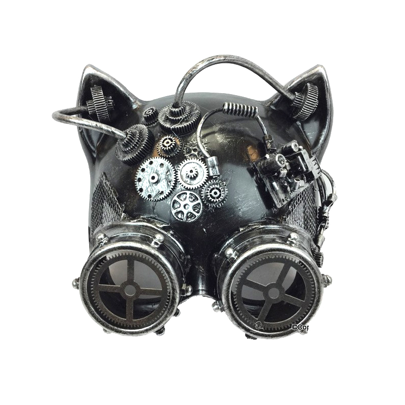 Silver Costume Ste&unk Cat-Shaped Mask  sc 1 st  Cappelu0027s & Buy Costume Steampunk Cat-Shaped Mask - Cappelu0027s