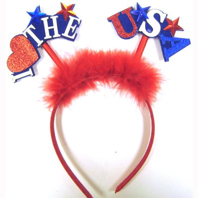 Red Patriotic Head bopper headband