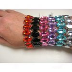 elastic gemstone bracelet - 6 colors