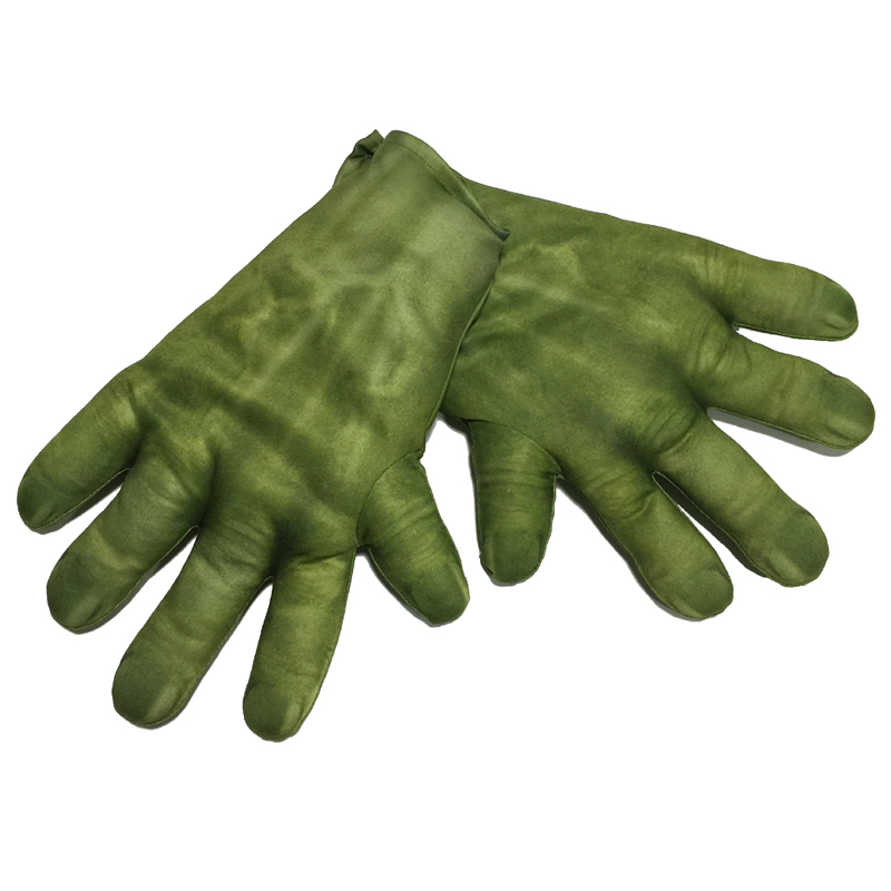 Costume Stuffed Incredible Hulk Gloves