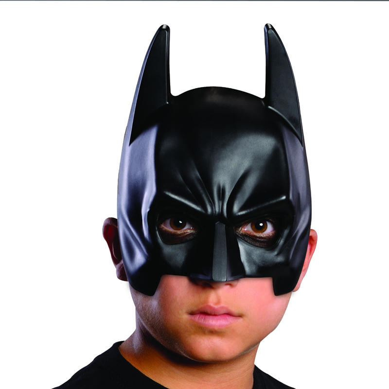 Black Plastic Batman Mask