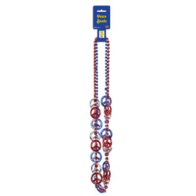 Patriotic Peace Sign Beads