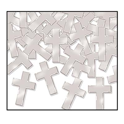 Silver Cross Confetti
