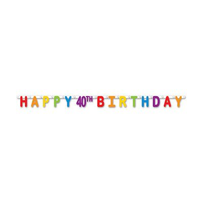 Happy 40th Birthday Streamer