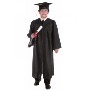 Child Graduation Robe Cap Gown - Black