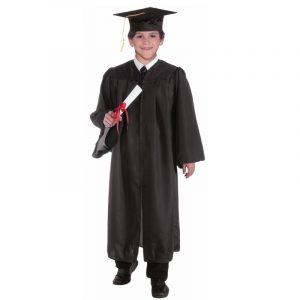 Child Graduation Robe Cap Gown - Black