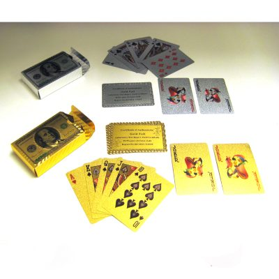 Foil playing card deck