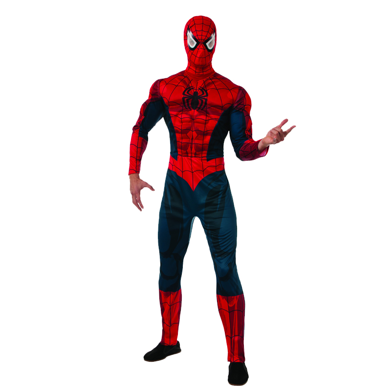 Spider-man deluxe muscle chest adult costume
