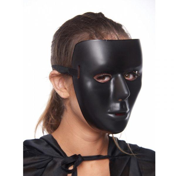 Shiny Black Full Face Mask