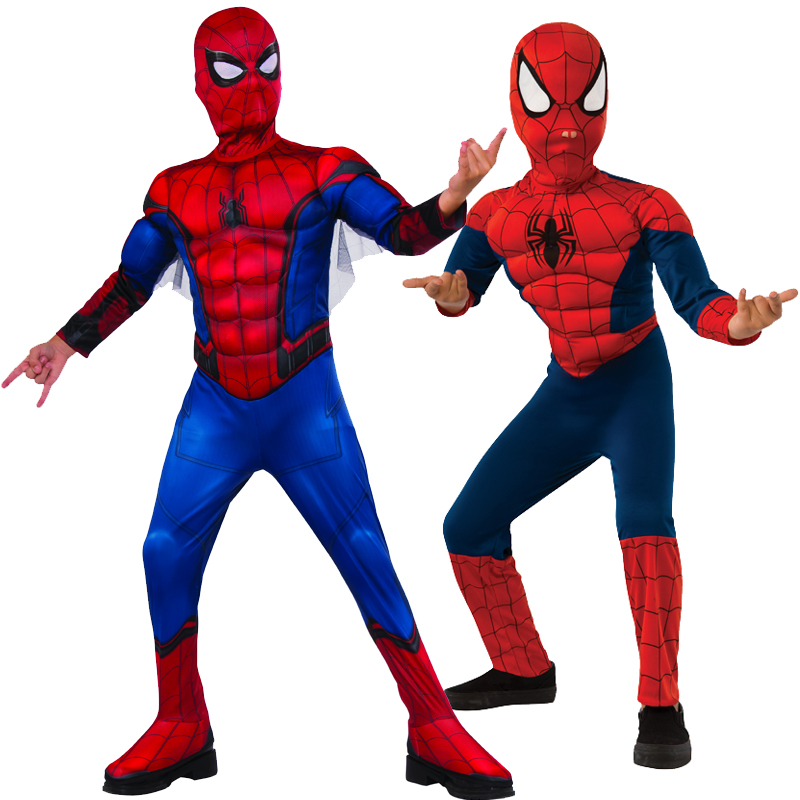 NEW Youth Toddler Kids Boys Halloween Spiderman Costume Muscle Chest