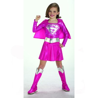 Supergirl Child's Pink Superhero Costume