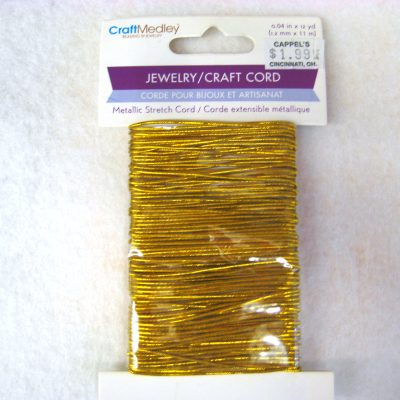 Gold Metallic Elastic Jewelry Craft Cord