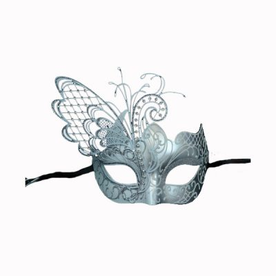 Butterfly mask glittered