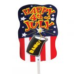3-dimensional 4th of July Yard Sign