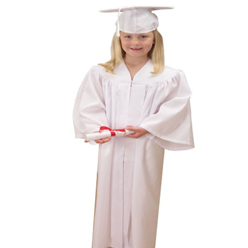 Child's Fabric Graduation Cap & Gown