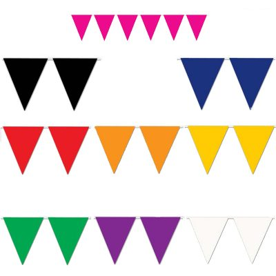 Solid color Pennant Banner 9 colors