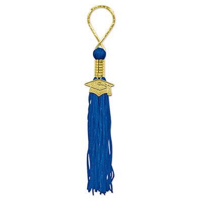 Blue Graduation Tassel Keychain