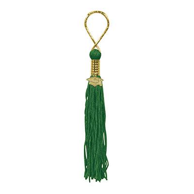 Graduation Tassel Keychain Green