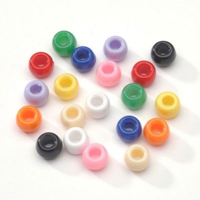 9mm Plastic Pony Beads.