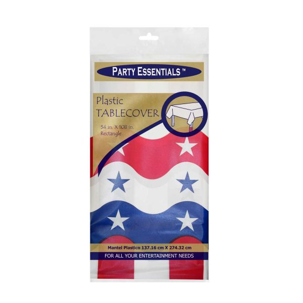 Patriotic Tablecover Red White Blue stars and stripes