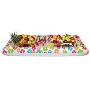 Inflatable luau buffet cooler