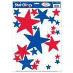 Star Clings Patriotic