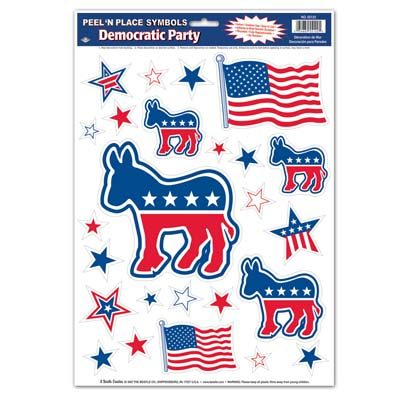 Democratic Peel n Place Stickers