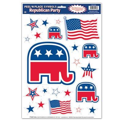 Republican Stickers Peel n Place