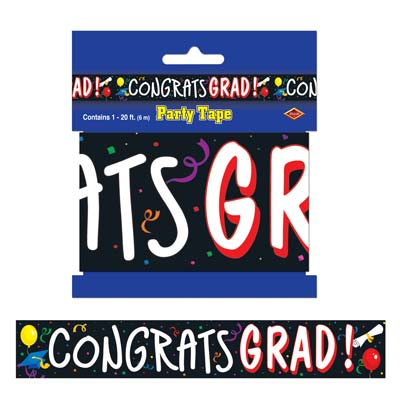 Congrats Grad Party Tape