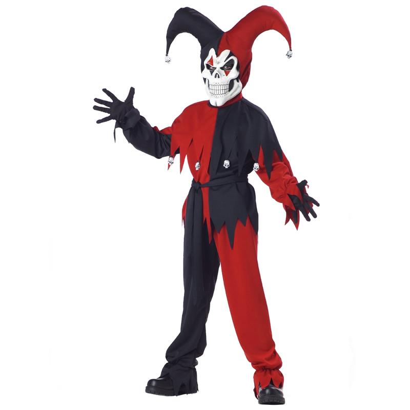 Evil Jester Red Black Child size