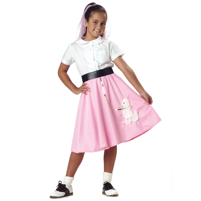 Pink Poodle Skirt Child Size Costume