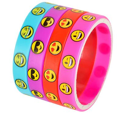 Party Printed Rubber Emoji Bracelets