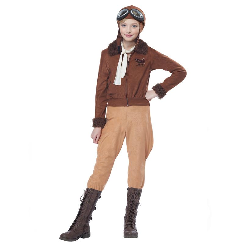 Amelia Earhart Aviator Child Costume