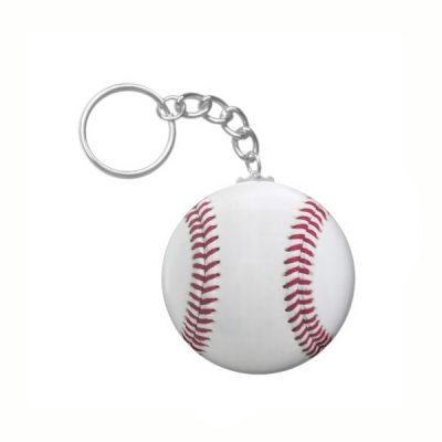 Relaxable Baseball Keychain
