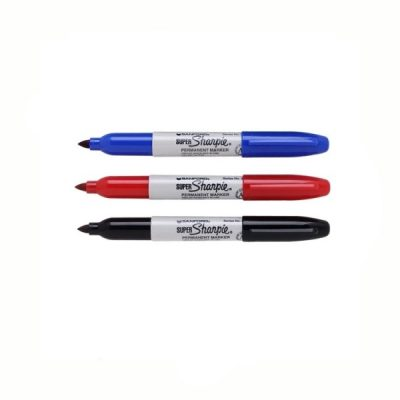 super Sharpie Permanent Marker Red Blue Black