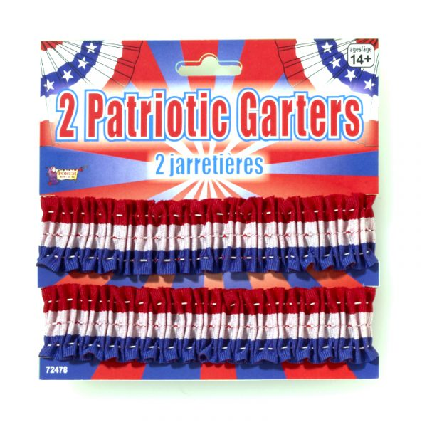 Patriotic Garters Arm bands Red White Blue