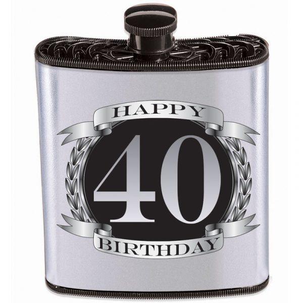 Novelty Plastic Drinking Birthday Flask