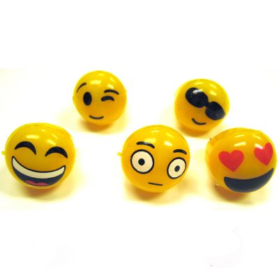 Rubber Light-up Emoji Ring