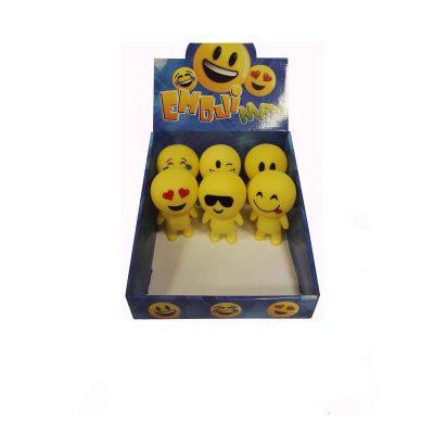 Rubber Light Up Squeaking Emoji Man