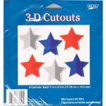 3-D Hanging Patriotic Star Cutouts