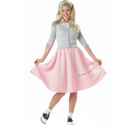 Pink Poodle Skirt Adult 50s Costume